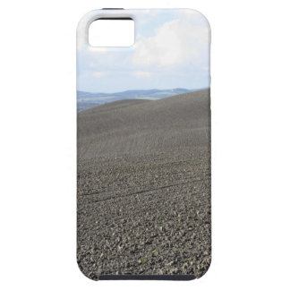 Winter Tuscany landscape with plowed fields iPhone 5 Covers