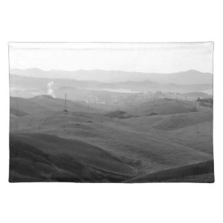 Winter Tuscany landscape with plowed fields Placemat