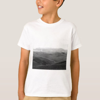Winter Tuscany landscape with plowed fields T-Shirt
