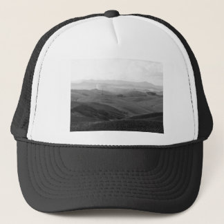 Winter Tuscany landscape with plowed fields Trucker Hat