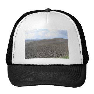 Winter Tuscany landscape with plowed fields Trucker Hat