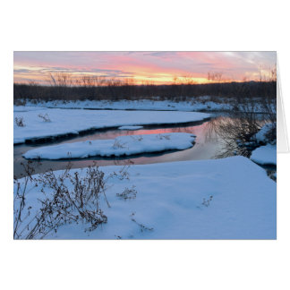 Winter Twilight at Wildlife Refuge Card