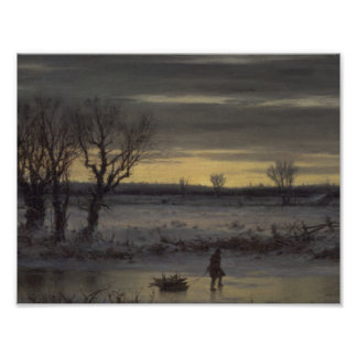 Winter Twilight Near Albany by George Henry Bought Poster