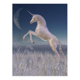 Winter Unicorn - rearing Postcards