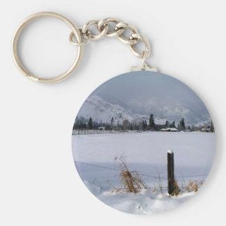 Winter Valley Basic Round Button Keychain