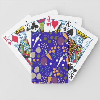 winter veg bicycle playing cards