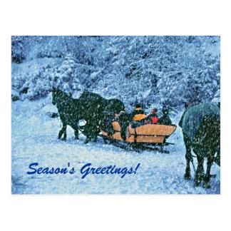 Winter Very Snowy Seasons Greetings! Postcard