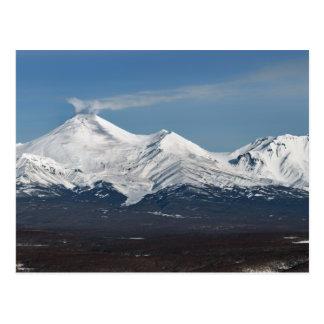 Winter view of Avacha Volcano in Kamchatka Postcard