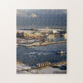 Winter View of Lake Michigan and Navy Pier Puzzle