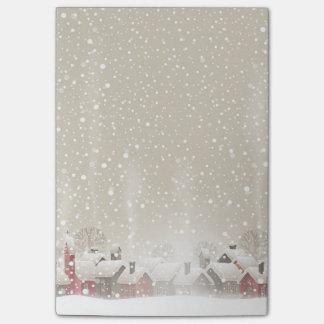 Winter Village Post-it® Notes