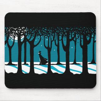 Winter Walk in Moonlit Woods. Mouse Pad