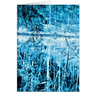 Winter Walk in the Woods Infrared Photography Card
