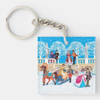 Winter walk keychain