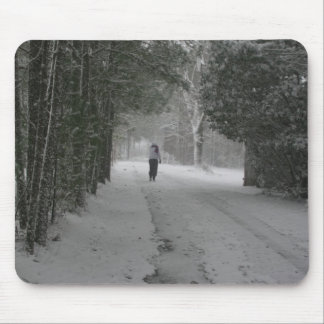Winter Walk Mouse Pad
