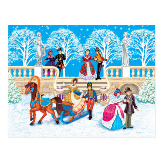 Winter walk post card