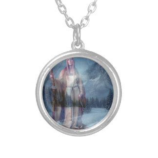 WINTER WATCH SILVER PLATED NECKLACE
