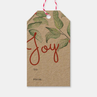 Winter Watercolor Gift Tags
