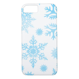 Winter Watercolor Snowflakes Blue Turquoise iPhone 8/7 Case