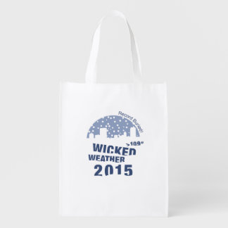 Winter Weather shopping bag 2015 Grocery Bags