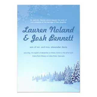 Winter Wedding 5x7 Invitation