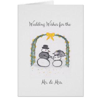 Winter Wedding Blank Greeting Card