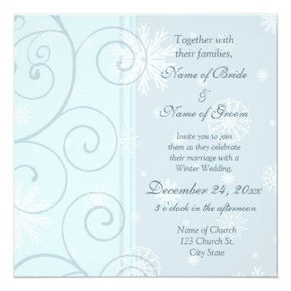 Winter Wedding Invitation Photo Cards