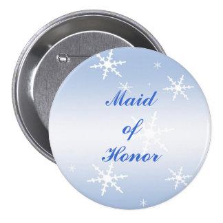 Winter Wedding Maid of Honor Pin