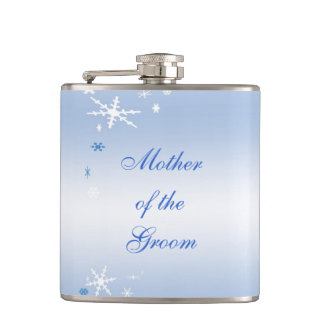 Winter Wedding Mother of the Groom Hip Flask