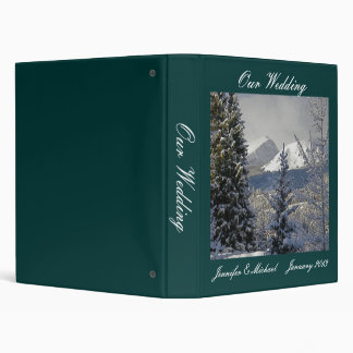 Winter Wedding Photo Album 3 Ring Binder