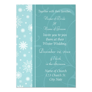Winter Wedding Photo Invitation Cards