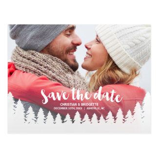 Winter Wedding | Photo Save the Date Postcard