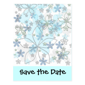 Winter Wedding Save The Date Postcard