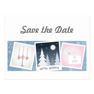 Winter Wedding Save the Date Postcards