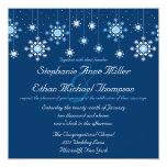 """Winter Wedding Snowflakes Invitation 5.25"""" Square Invitation Card"""