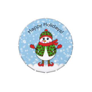 Winter Whimsy Lady Snowman Happy Holidays
