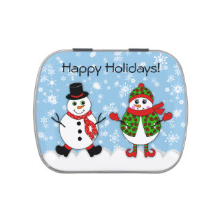 Winter Whimsy Snowman Couple
