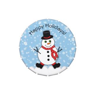 Winter Whimsy Snowman Happy Holidays