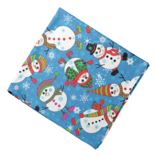 Winter Whimsy Snowman Pattern Bandanna
