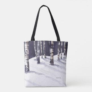 Winter White Birches Tote Bag