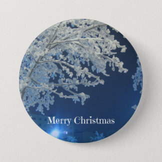 Winter White Christmas 3 Inch Round Button