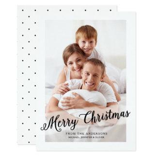 Winter White   Modern Merry Christmas Card