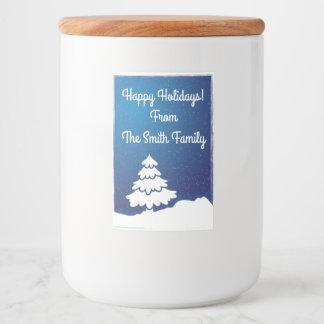 Winter White Pine Tree Food Label