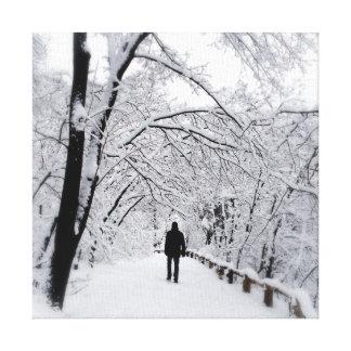 Winter Whiteout Canvas Print