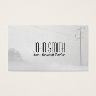 Winter Whiteout Snow Removal Blizzard Weather Business Card