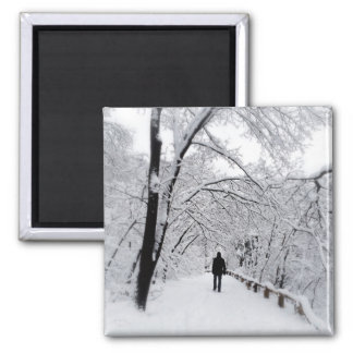 Winter Whiteout Square Magnet