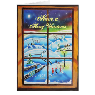 Winter Window Christmas card by Gordon Bruce