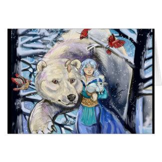 Winter Winds Polar Bear~Greeting Card
