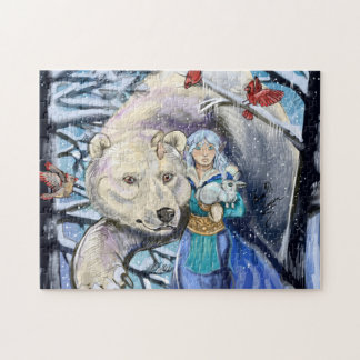 Winter Winds Polarbear Jigsaw Puzzle