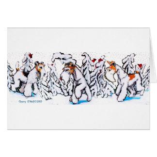 Winter Wire Fox Terrier Card