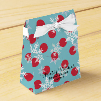 Winter Wishes Holidays Party Favor Boxes